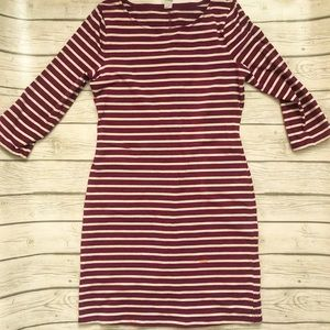 Old Navy purple/white fitted striped dress.size S